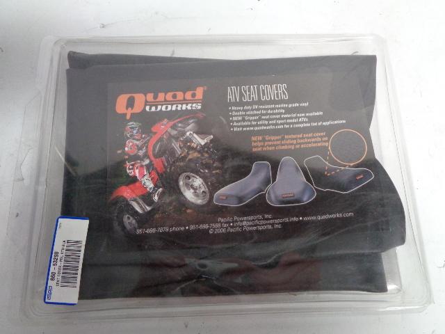 Year Code:S F4WDX King Quad 1995 Suzuki LT Handmade Black Marine Grade ATV Seat Cover