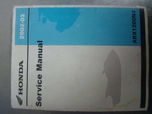 Honda Aquatrax 2002-2003 ARX 1200 OEM Shop Manual Part# 61HW101