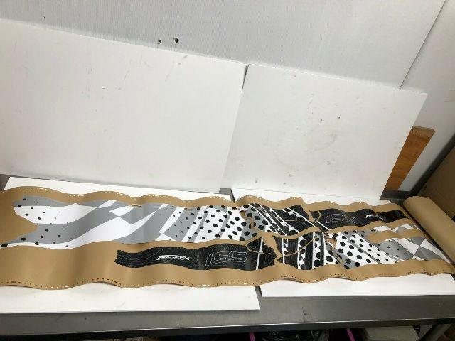 Polaris Snowmobile KC Asylum Silver Tun Wrap Decal Kit Part# 2858048-155