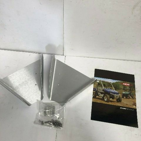 Yamaha Side By side HCR Rhino Front A-Arm Skids Aluminum Silver Part# RHI-01160