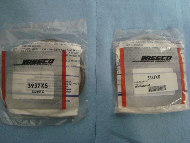 Wiseco 100.00MM Piston Ring's  Qty: 2 Sets Of Rings Part# 3937XS