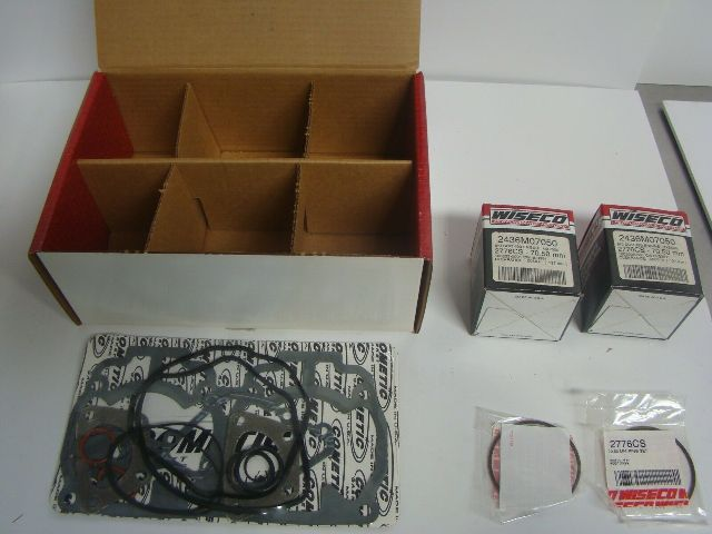 Ski Doo Snowmobile 493 mm MXZ 500 Wiseco 70.50 mm Complete Piston Kit # SK1324