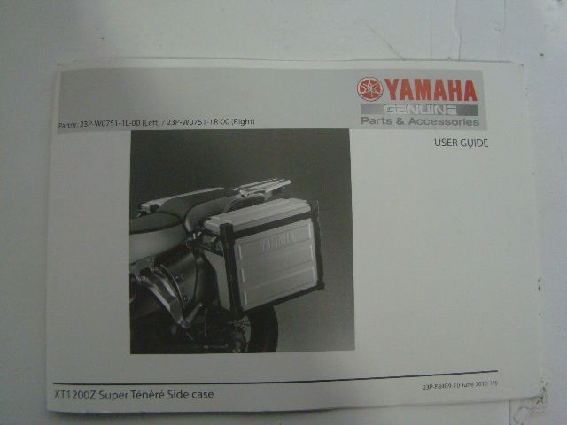 Yamaha Motorcycle XT1200Z Aluminum Side Case Kit Part# 23P-W0751-1R-00 OEM NEW