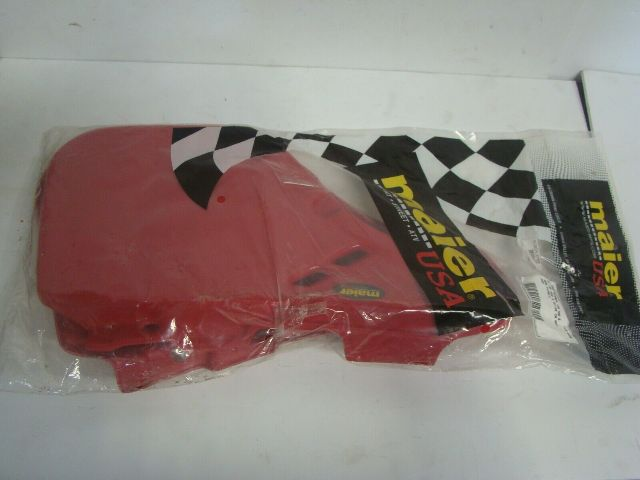 Honda Dirt Bike 1987-1988 CRF 125 250 500 Maier Red Side Panel Set Part# 206032