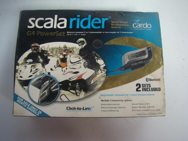 Snowmobile Scala Rider G4 Power Set Rider To Ride Bluetooth Intercom Set