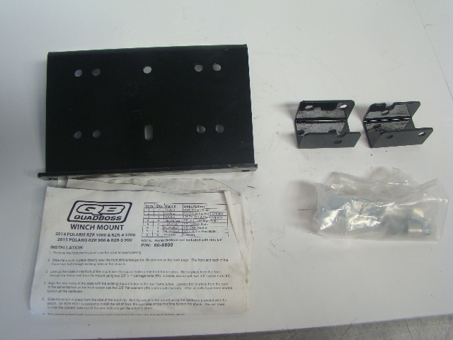 Polaris Side By Side UTV 14-15 RZR 1000 Quad Boss Winch Mount Kit Part# 608800