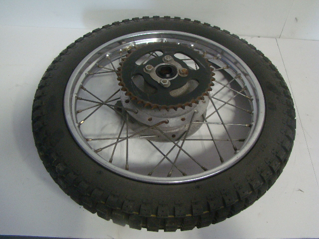 Yamaha Motorcycle / Dirt Bike 1975 MX 80 OEM Orignal Rear Wheel Assembly