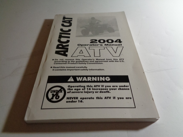Arctic Cat ATV UTV 2004 ATV Operator Manual NEW Part# 2256-934