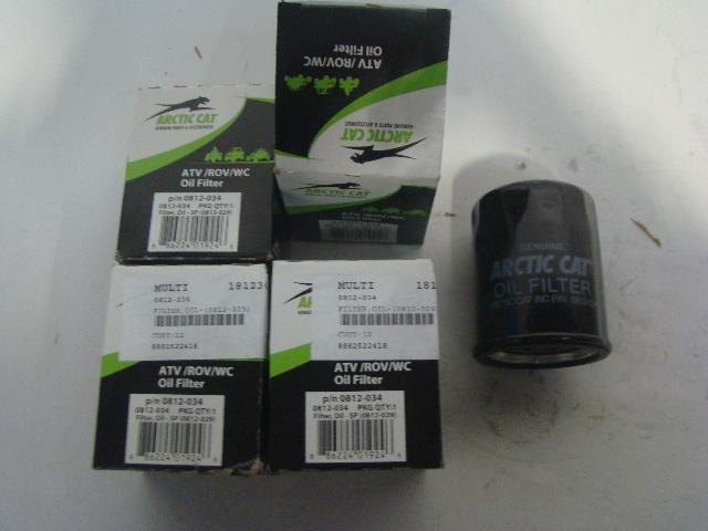 Arctic Cat 13-19 Wildcat Prowler TBX Mud Pro Alterra Oil Filter 4 Pack 0812-034
