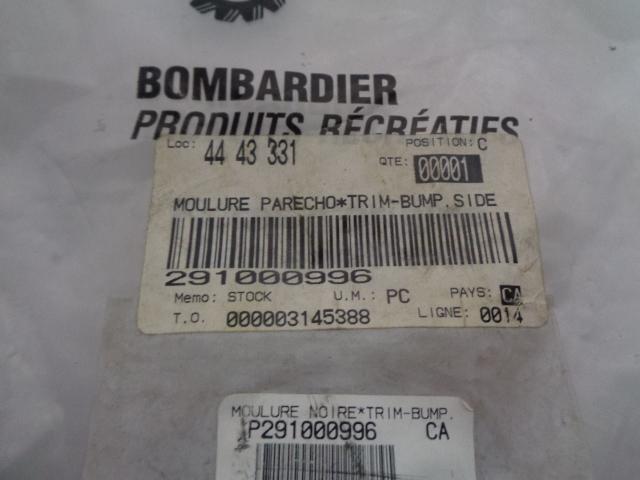 Sea Doo Bombardier 1997-2003 XP Side Bumper Trim Assembly # 291000996