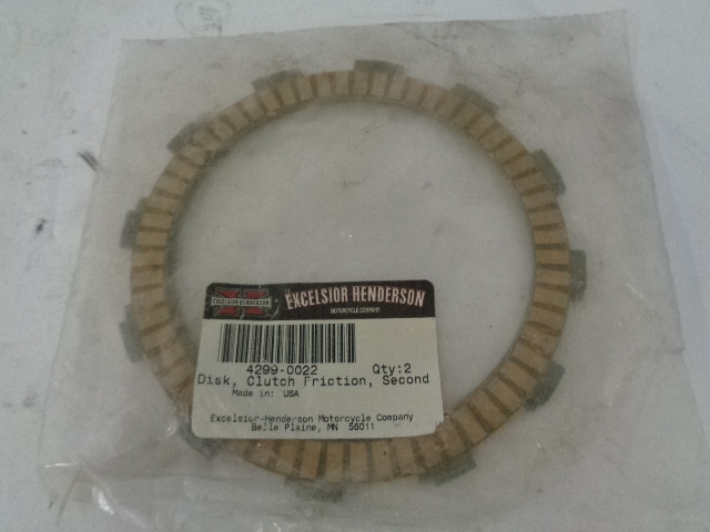 Excelsior-Henderson Motorcycle NEW OEM Friction Disc Part# 4299-0022