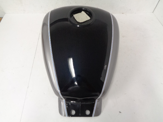 Hyosung Motorcycle GV250 OEM Silver & Black Fuel Tank # 44110HR82A0CMS