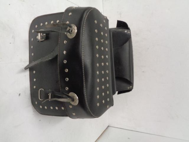 Aftermarket Motorcycle Studded Throw Over Leather Saddlebag Set