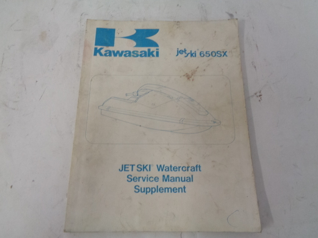 Kawasaki Jet Ski 1987 650SX OEM Service Manual Supplement # 99924-1087-51
