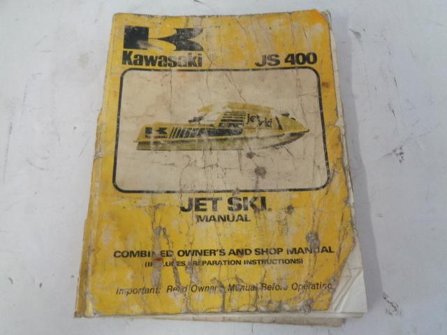 Kawasaki Jet Ski 1975 JS400 OEM Service Manual Assembly Part# 99924-1087-51