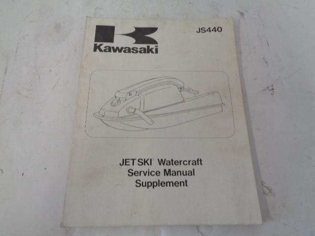 Kawasaki Jet Ski 1984-1987 JS440 OEM Service Manual Supplement  # 99924-1091-51