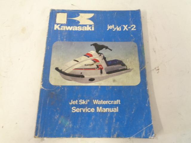 Kawasaki Jet Ski 1986 X2 OEM Service Manual Assembly # 99924-1069-01