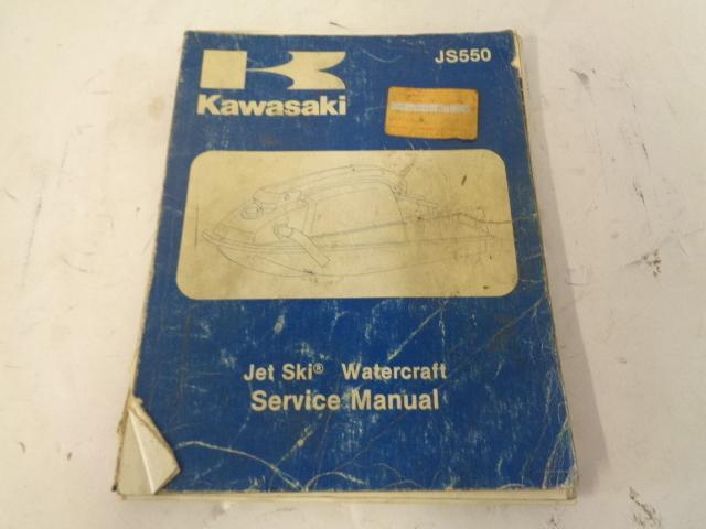 Kawasaki Jet Ski 1982-1983 JS550 OEM Service Manual Part# 99963-0051-01