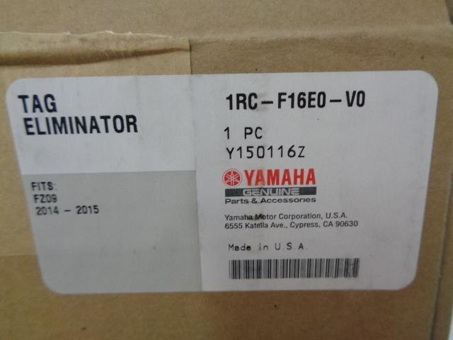 Yamaha Motorcycle 2014-2016 FZ-09 NEW OEM Fender Eliminator Part 1RC-F16E0-V0-00