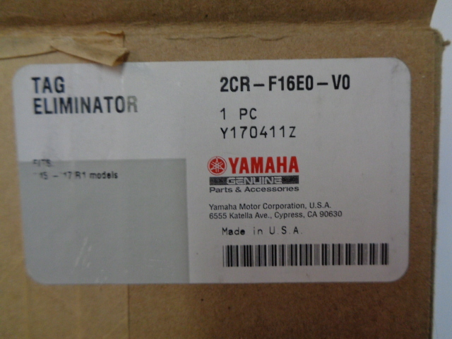 Yamaha Motorcycle 2015-2016 YZF-R1 NEW OEM Fender Eliminator # 2CR-F16E0-V0-00