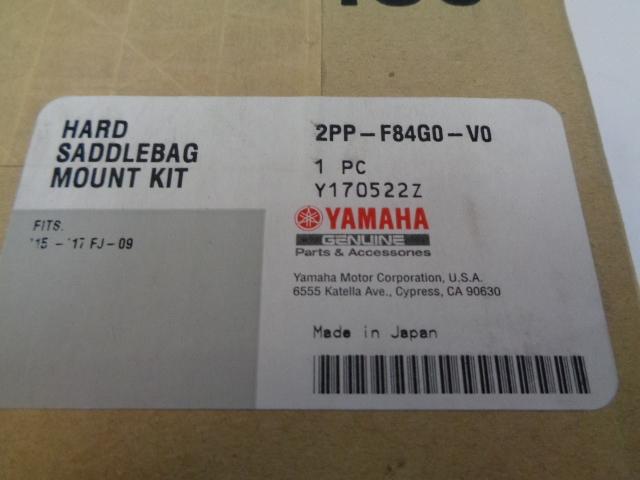 Yamaha Motorcycle 2015-2017 FJ-09 NEW OEM Hard Saddlebag Mount Part 2PP-F84G0-V0