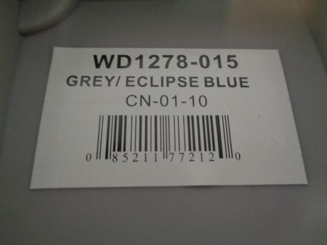 "New Pro-verzion Tour Seat wise Seating Grey/Blue 15"" D x 16.5"" W x 5 #WD1278-015"