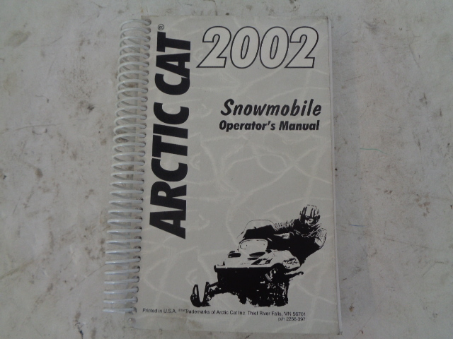 Arctic Cat OEM Snowmobile 2002 Owner Operator Manual Part# 2256-397