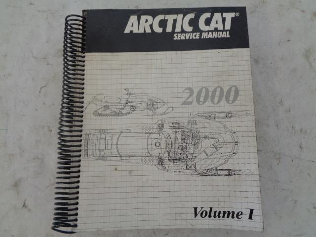 Arctic Cat 2000 Snowmobile Service Manual Volume #1 Part# 2256-248
