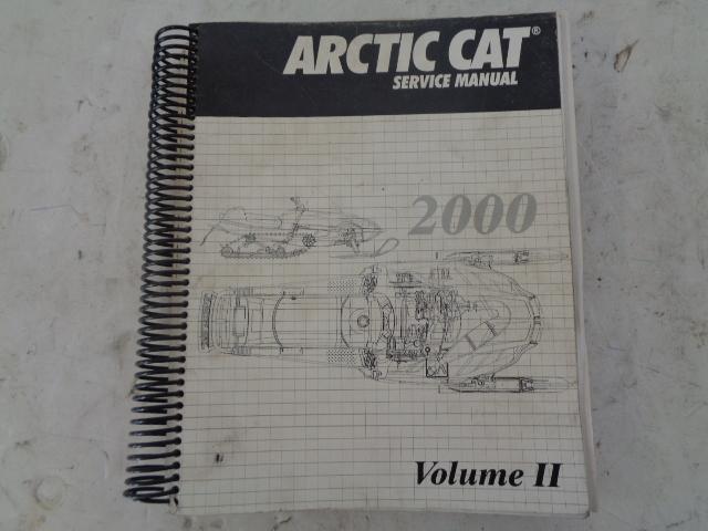 Arctic Cat 2000 Snowmobile Service Manual Volume #2 Part# 2256-249