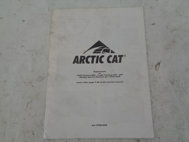 Arctic Cat 1999 Snowmobile Pantera / Triple Touring Service Manual # 2256-204