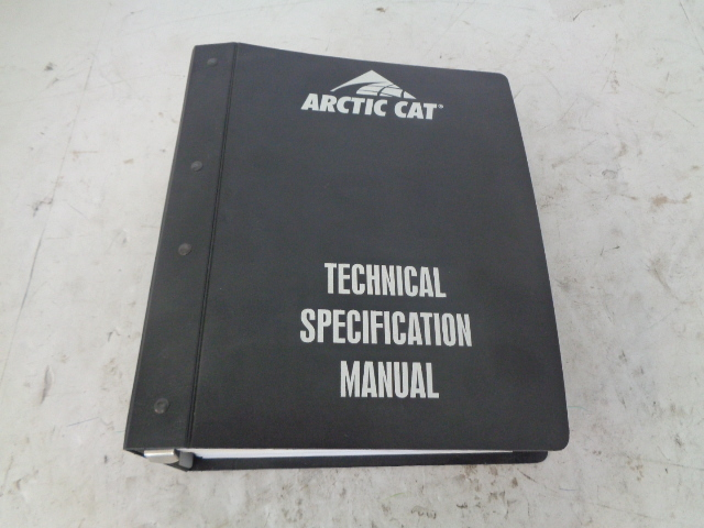 Arctic Cat Snowmobile Technical Specifications Manual Assembly Part# 2257-238