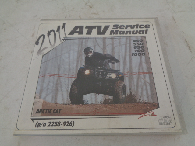Arctic Cat 4x4 2011 ATV 450/550/650/700/1000 Service Manual CD Disc 2258-926