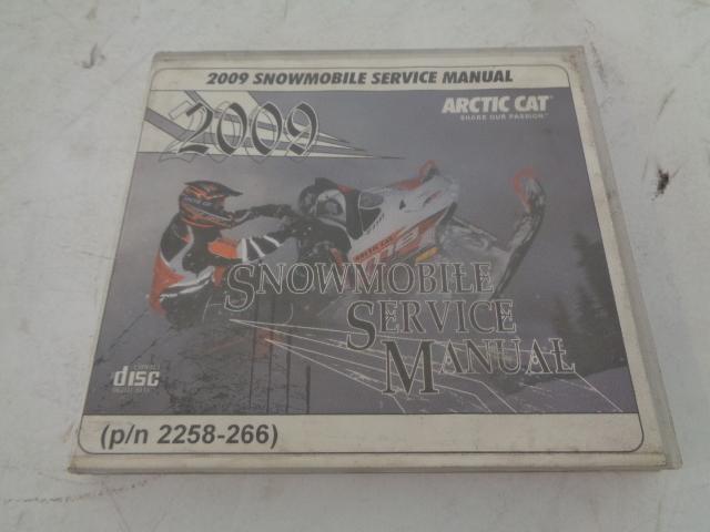 Arctic Cat 2009 Snowmobile Service Manual CD Disc Part# 2258-266