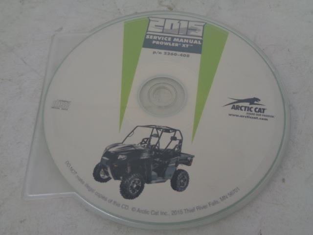 Arctic Cat UTV Side By Side 2015 Prowler XT Service Manual CD / Disc # 2260-408