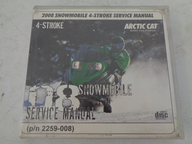Arctic Cat 2008 4-Stroke Snowmobile Service Manual CD Disc Part# 2259-008