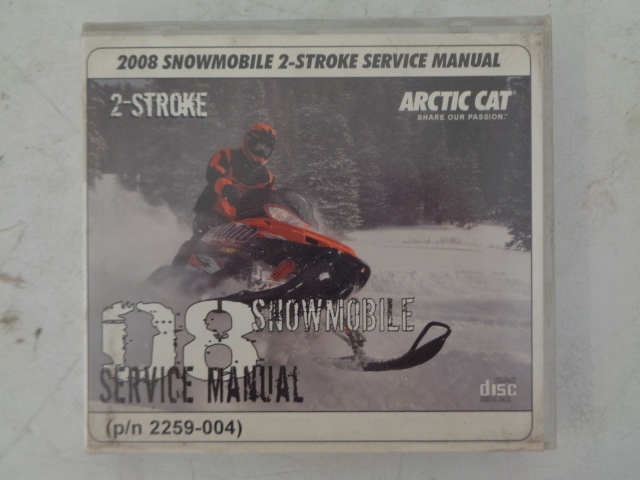 Arctic Cat 2008 2-Stroke Snowmobile Service Manual CD Disc Part# 2259-004