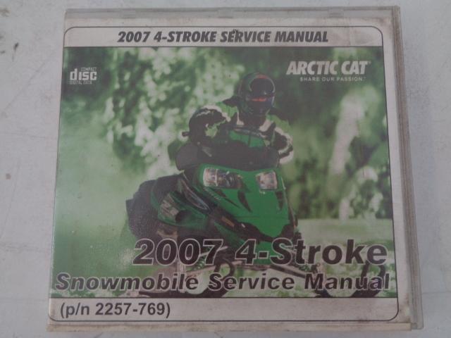 Arctic Cat 2007 4-Stroke Snowmobile Service Manual CD Disc Part# 2257-769