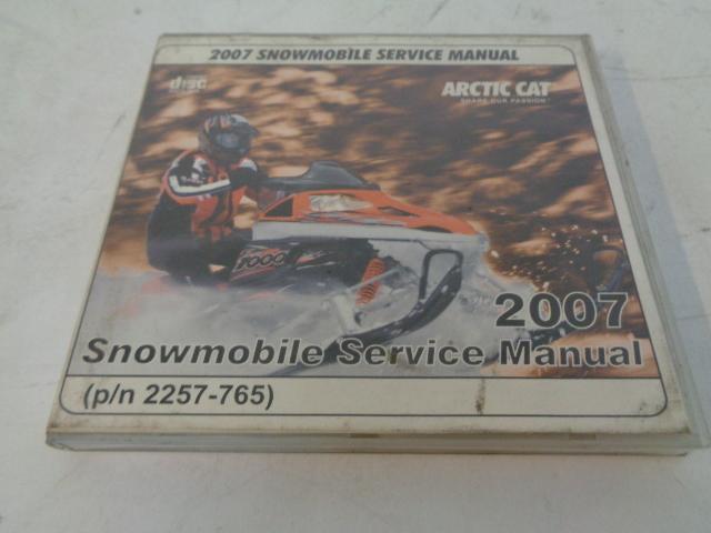 Arctic Cat 2007 Snowmobile Service Manual CD Disc Part# 2257-765