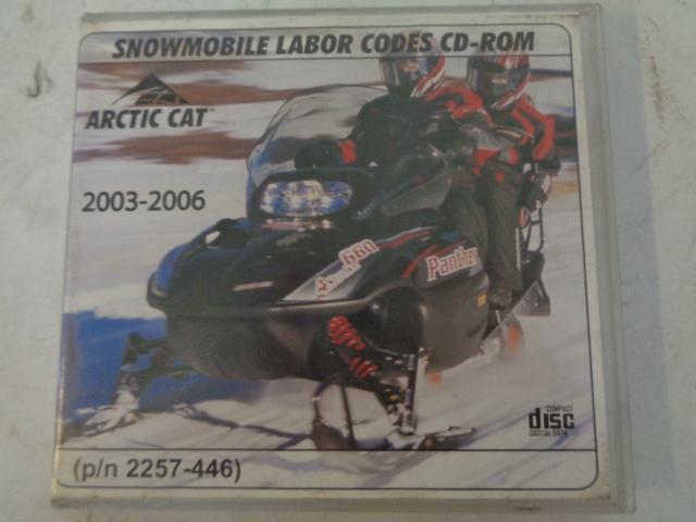 Arctic Cat 2003-2006 Snowmobile Service Labor Codes CD/ Disc Part# 2257-446