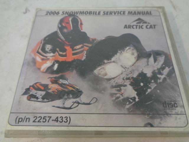 Arctic Cat 2006 Snowmobile Service Manual CD Disc Part# 2257-433