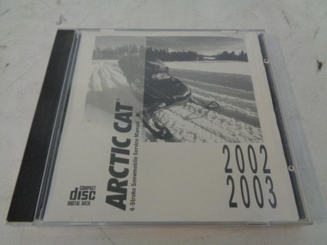 Arctic Cat 2002-2003 Snowmobile Service Manual CD Disc Part# 2256-983