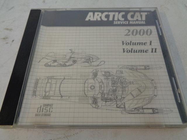 Arctic Cat 2000 Snowmobile Service Manual CD Disc Part# 2270-041