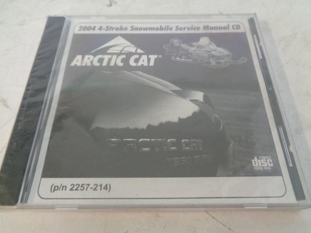 Arctic Cat 2004 4-Stroke Snowmobile Service Manual CD Disc Part# 2257-214