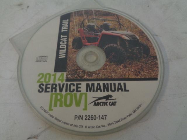 Arctic Cat UTV Side By Side 2014 Wildcat Trail Service Manual CD / Disc 2260-147