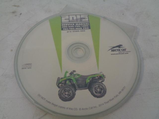 Arctic Cat UTV Side By Side 2015 TBX TRV Mud Pro Service Manual CD Disc 2260-400