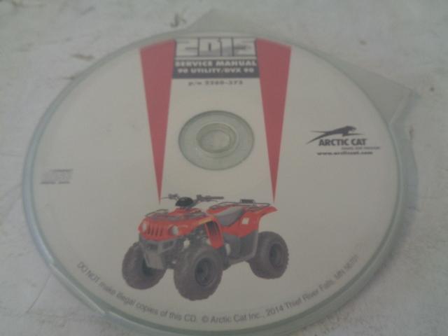 Arctic Cat ATV Quad 2015 DVX / Utility 90 Service Manual CD / Disc Part 2260-372