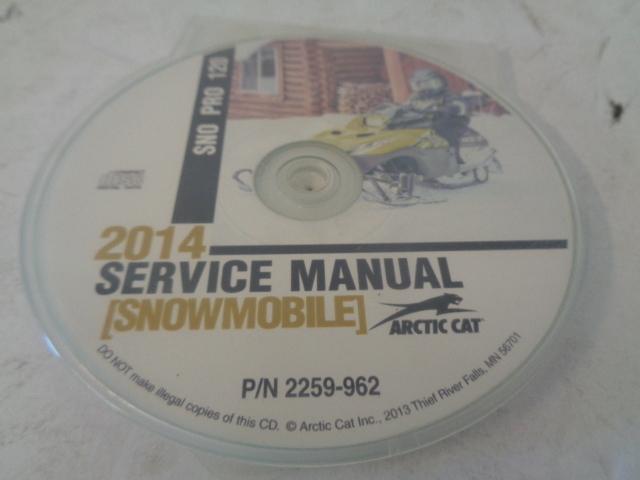 Arctic Cat Snowmobile 2014 Snow Pro 120 Service Manual CD Disc Part# 2259-962