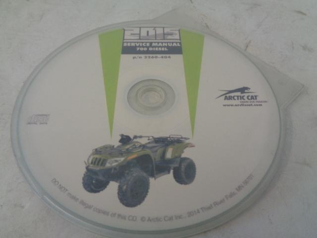Arctic Cat ATV Quad 2015 700 Diesel Service Manual CD / Disc Part# 2260-404