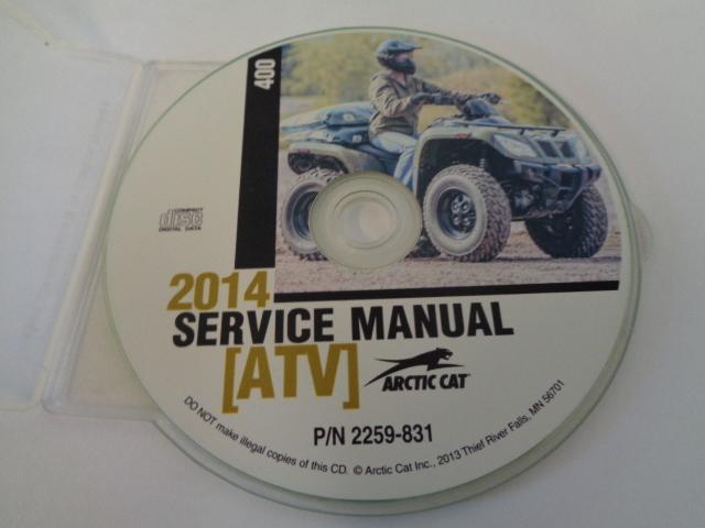 Arctic Cat ATV Quad 2014 400 Service Manual CD / Disc Part# 2259-831