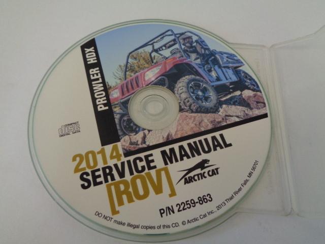 Arctic Cat UTV Side By Side 2014 Prowler HDX Service Manual CD / Disc # 2259-863